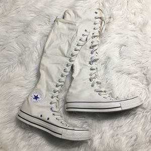 Converse White Knee High Tall Sneakers